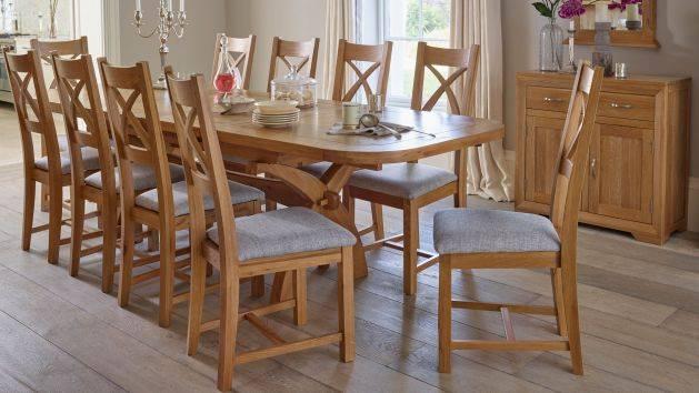 10 Seater Dining Tables | Large Dining Tables | Oak Furnitureland