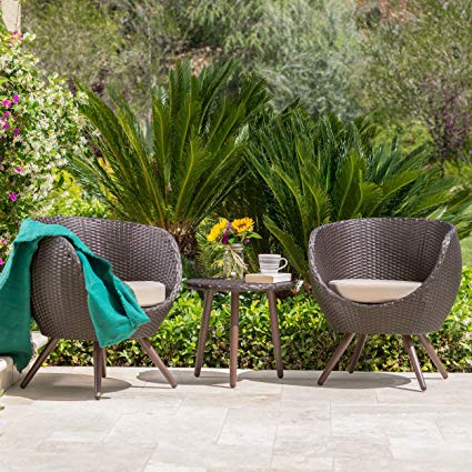 Amazon.com: GDF Studio Patio Furniture ~ 3 Piece Outdoor Modern