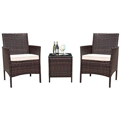 Amazon.com : Flamaker 3 Pieces Patio Furniture Set Outdoor Furniture