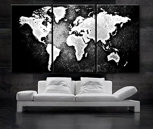 Aliexpress.com : Buy 3 Piece Modern Canvas Painting World Map Wall