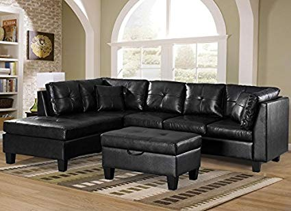 Amazon.com: Merax. Sofa 3-Piece Sectional Sofa with Chaise Lounge