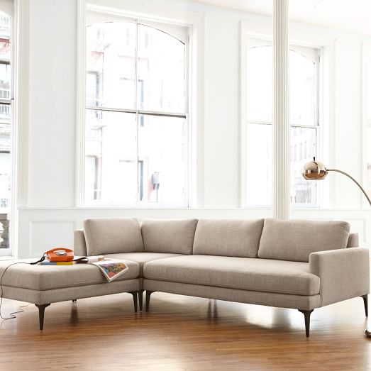 Andes 3-Piece Chaise Sectional | west elm
