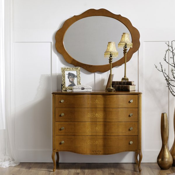 Royce 4 Drawer Dresser with Mirror | Birch Lane