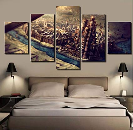 Amazon.com: 5PCS Framed Game of Thrones Canvas Prints - 5 Piece
