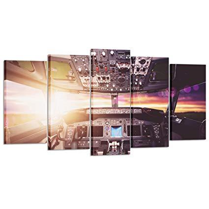Amazon.com: Kreative Arts Large Canvas Wall Art Prints Airplane