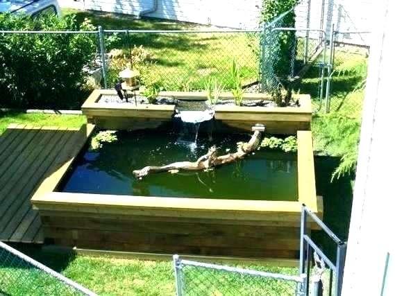 Above Ground Pond Ideas Above Ground Fish Pond Backyard Spectacular
