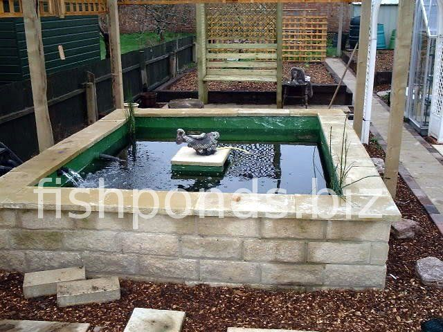 Above Ground Pond Designs | Building a Koi pond - finished pond