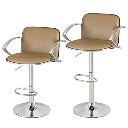 Amazon.com: Asense Leather Height Adjustable Bar Stools Chair with