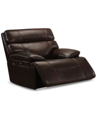 Furniture Barington Leather Power Glider Recliner with Power