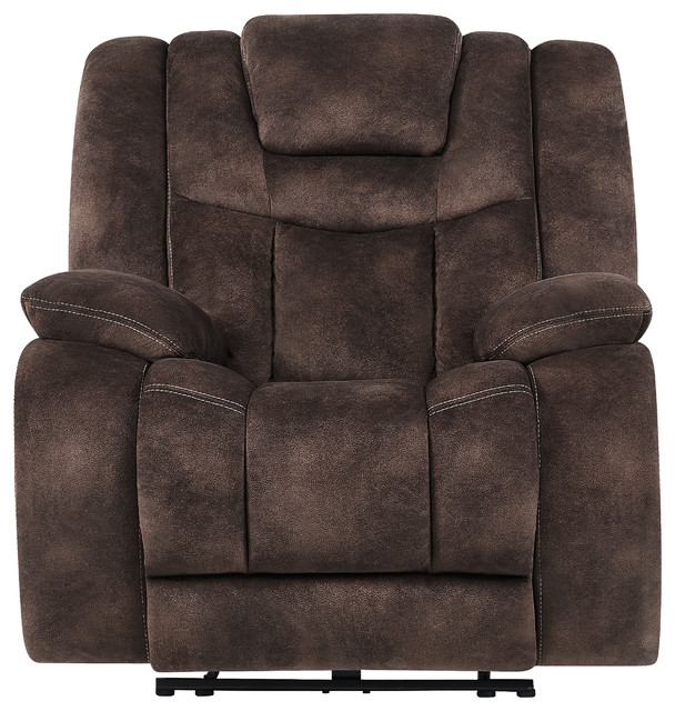 Global Furniture Power Reclining/ Adjustable Headrest Glider