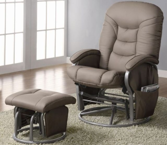 Armchair Chair Coaster Swivel Recliner Ottoman Adjustable Glider