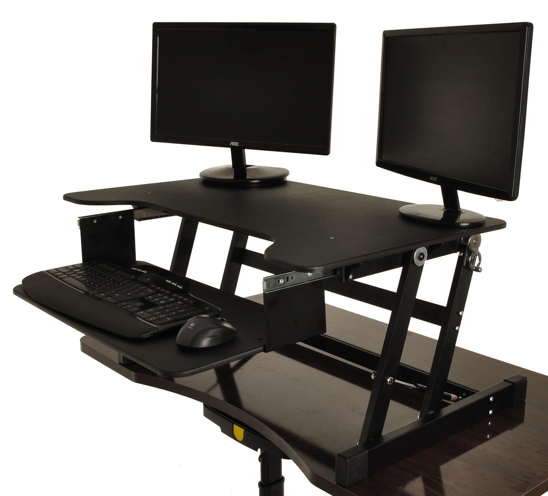 Desktop Tabletop Standing Desk Adjustable Height Sit to Stand