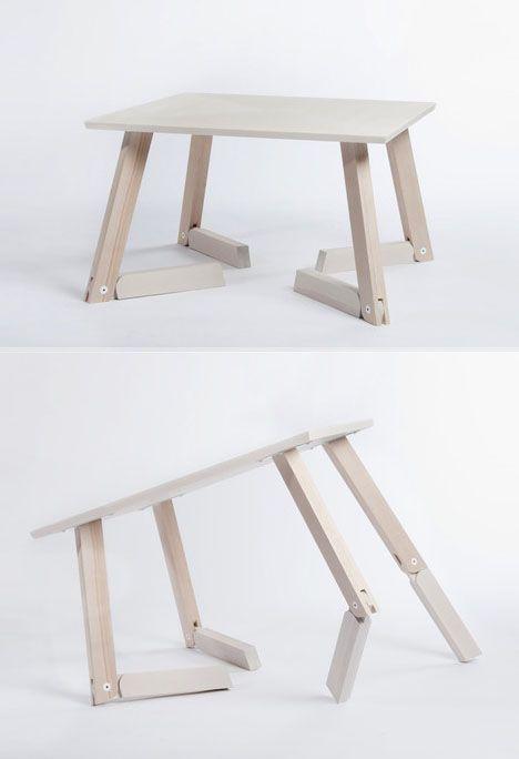 adjustable height wood bambi table | Lighting Design in 2019 | Pinterest