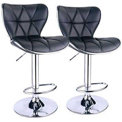 Amazon.com: Leopard Shell Back Adjustable Swivel Bar Stools, PU