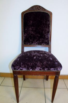 Vintage Art Deco Chairs by Gauthier Poinsignon, Set of 8 for sale at