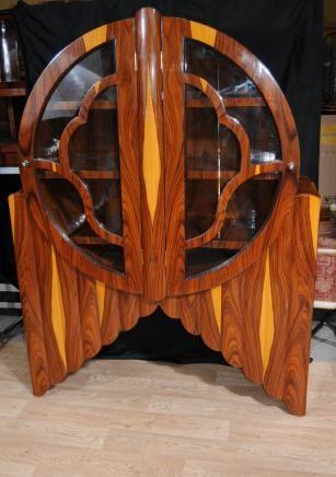 Art Deco Display Cabinet Bookcase Modernist Furniture Antiques