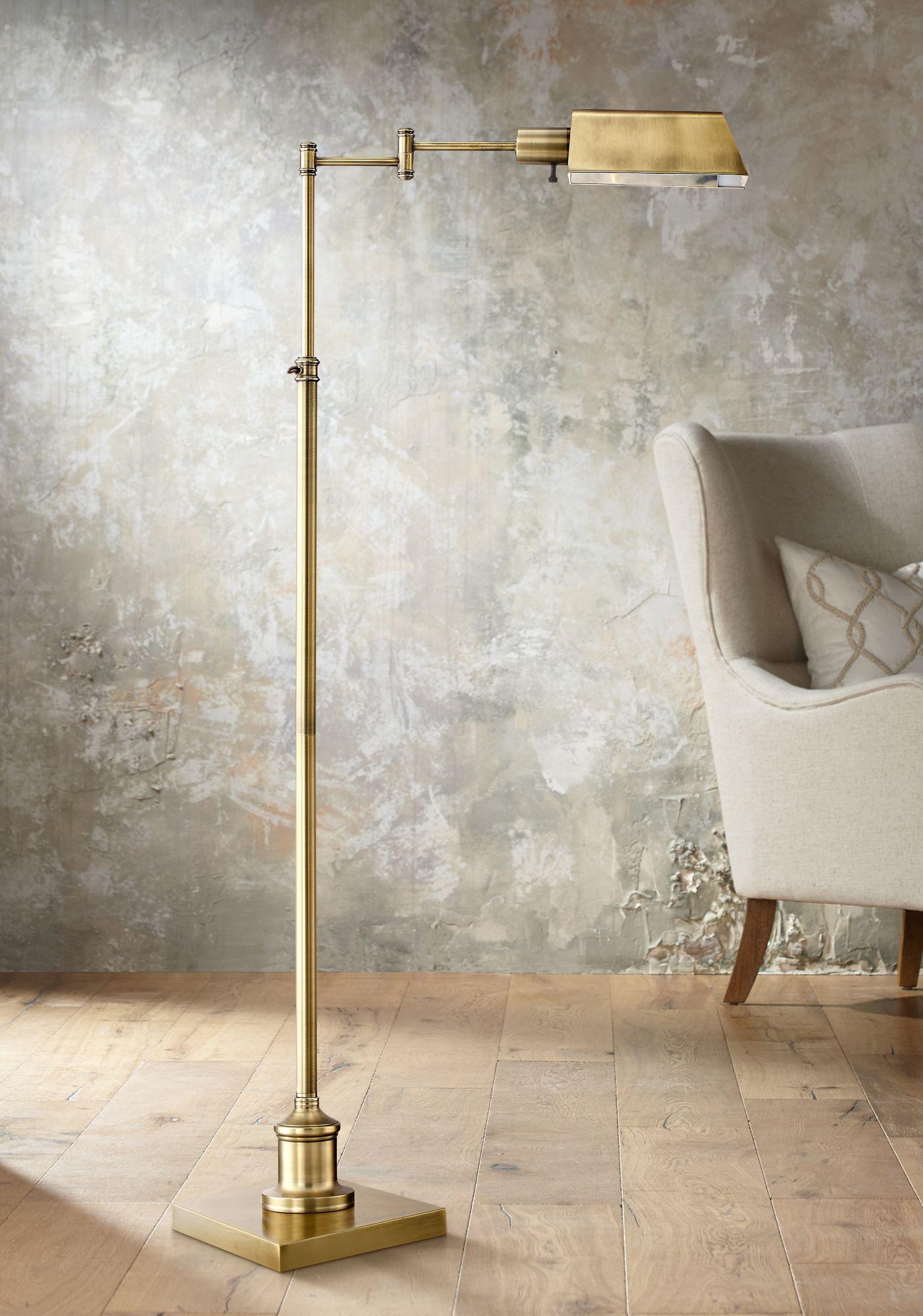 Brass - Antique Brass, Swing Arm, Floor Lamps | Lamps Plus