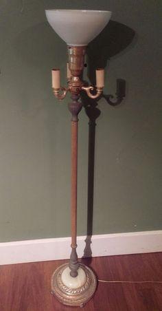 UpgradeLights Beige Leather 19 Inch Victorian Floor Lampshade