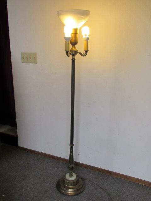 Antique Floor Lamp With Milk Glass Shade - Lamp Design Ideas
