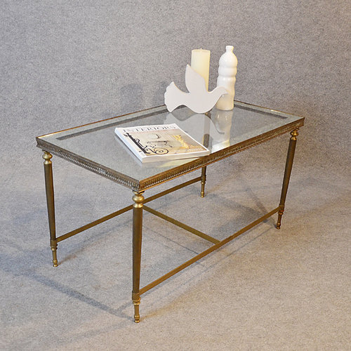 Fascinating Vintage Glass Coffee Table For Sale