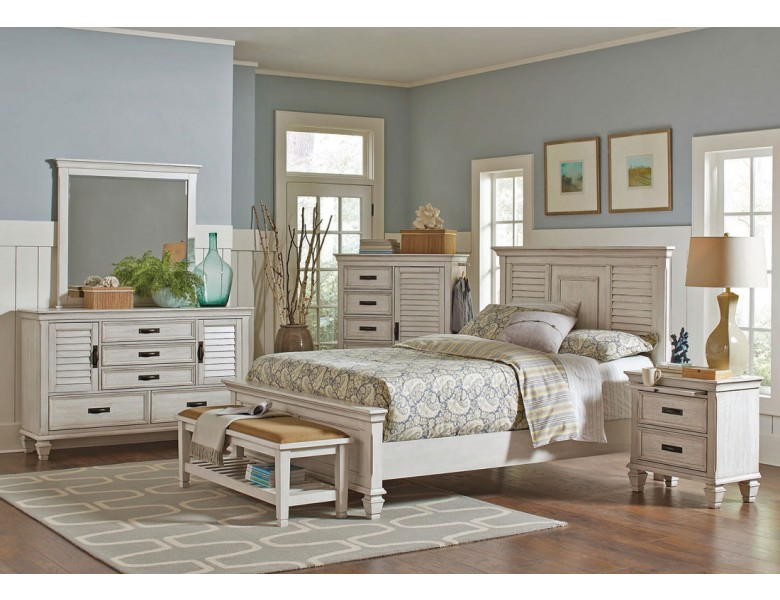 Draper Antique White Bedroom Furniture