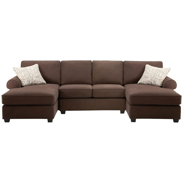 Shop Art Van Left and Right Facing Chaise with Armless Sectional
