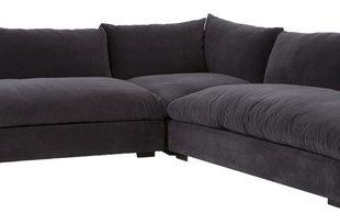 Hanz Modern Black Armless Sectional Sofa - Contemporary - Sectional