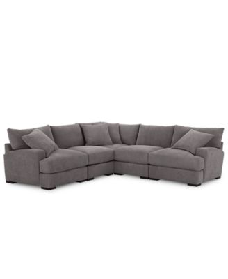 Furniture Rhyder 5-Pc. Fabric Sectional Sofa with Armless Chair