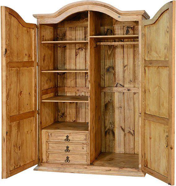 Corona Rustic Wardrobe Armoire R | HOME IMPROVEMENTBEDROOMS in