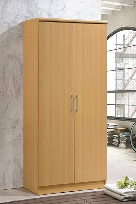 Amazon.com: Contemporary Bedroom Armoire Wardrobe, Classic 2 Door