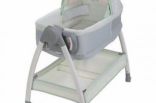 Portable Baby Bassinet and Diaper Changer Station with Canopy and