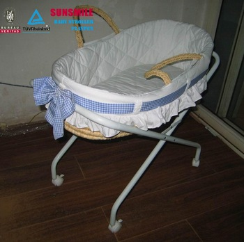 Cradle Wicker Basket With Lockable Wheels For Baby/baby Carrier/baby