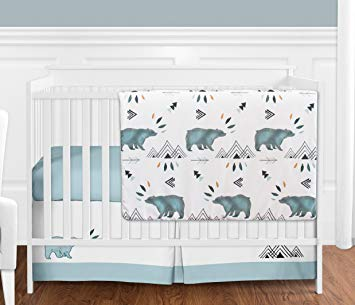 Amazon.com : Bear Mountain Watercolor Baby Boy Crib Bedding Set
