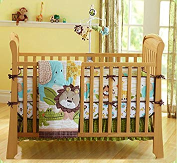 Amazon.com : Cute Lion Safari Baby Boy 7 Pieces Nursery Crib Bedding