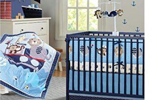 Amazon.com: Brandream Nautical Crib Bedding Sets with Bumper Blue