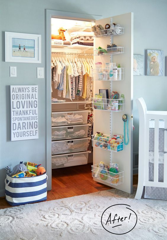 Nursery Closet Organization} Easy DIY Baby Closet Pictures & Ideas