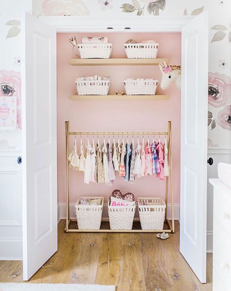 Nursery Closet Organization | Baby Closet Organization Ideas