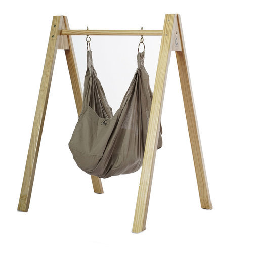 CuddlyCoo Baby Hammock/Cradle With Stand - Organic Cotton And Wood