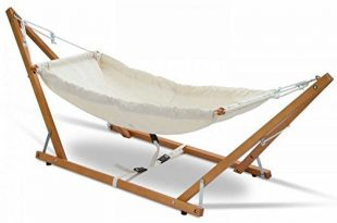 Amazon.com : Portable 100% Cotton Baby Hammock with Natural Wooden