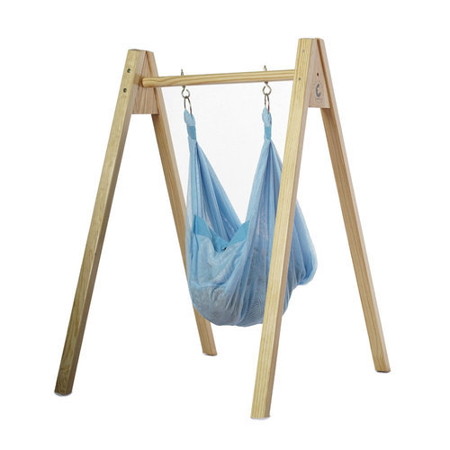 CuddlyCoo Baby Hammock/Cradle with Stand - Polyester mesh and Wood