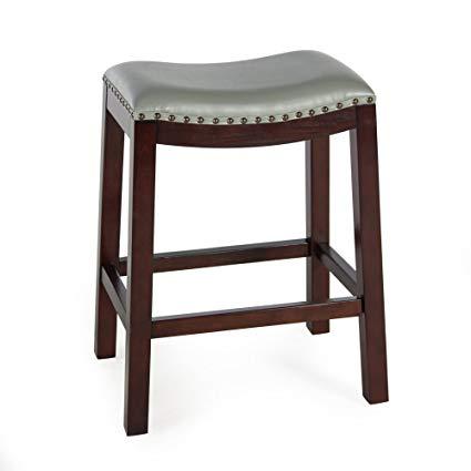Amazon.com: Counter Bar Stools Bistro (Gray) Backless Wood Chairs
