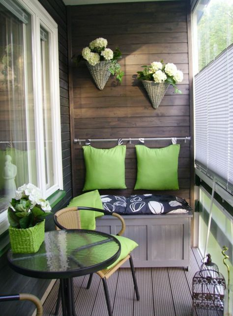 15+ Superb Small Balcony Designs | Home | Apartment balcony