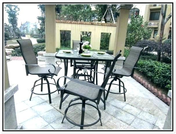 Tall Patio Table High Table Patio Set Bar Top Patio Furniture