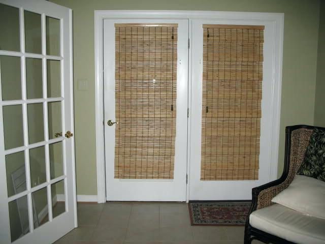 Bamboo Shades For Patio Doors Cool Window Treatment For French Doors