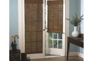 Roman Fruitwood Bamboo French Patio Door Shade | Home Decor - My