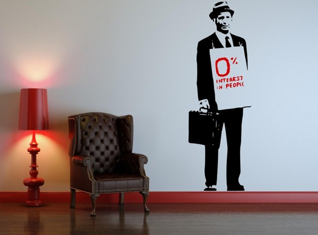 0% interest in people from Banksy on your wall? It´s possible!