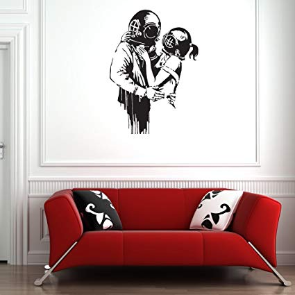 Amazon.com: Deep Love Banksy Wall Decal by Style & Apply - Wall