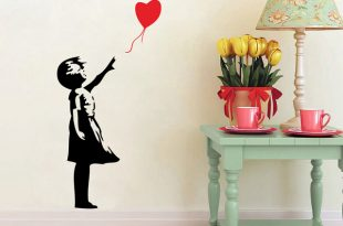 Banksy Wall Decals, Balloon Girl Inspired Banksy Vinyl Wall Art