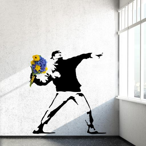Banksy Vinyl Wall Decals