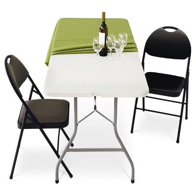 6' Folding Banquet Table Off-White - Plastic Dev Group : Target